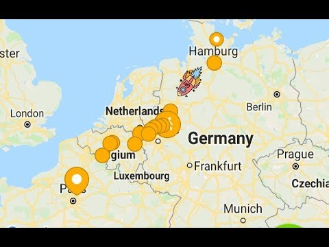 21,5 Hours Flixbus Trip From Kiel Germany To CDG Airport Paris France