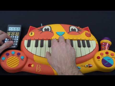 Gary Jules  Mad World On A Cat Piano And A Drum Calculator