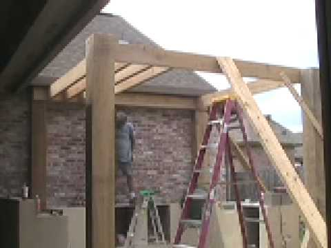 patio pergola construction youtube. Black Bedroom Furniture Sets. Home Design Ideas