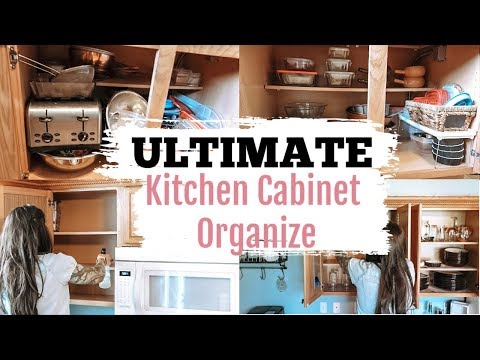 ULTIMATE KITCHEN CABINET DECLUTTER & ORGANIZE COLLABORATION | Clean With Me| Declutter With Me