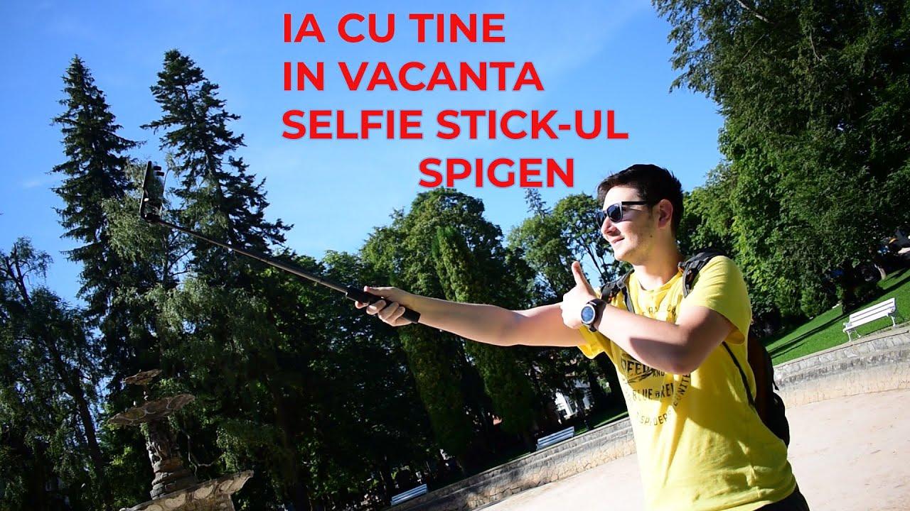Cand pleci in vacanta nu uita si de Selfie Stick-ul Bluetooth Spigen S540w!