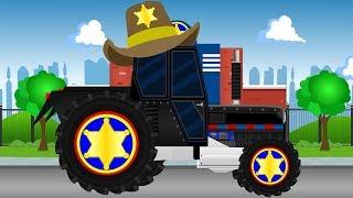 Tractor Sheriff Police Car Cartoon For Children | Policyjny Traktor Szeryf Auta Bajka Dla Dzieci