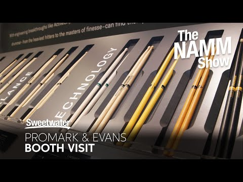 Promark & Evans Booth at Winter NAMM 2020