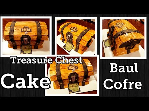 Treasure chest cake ,pastel cofre o baul de piratas☆☆🤗🤗