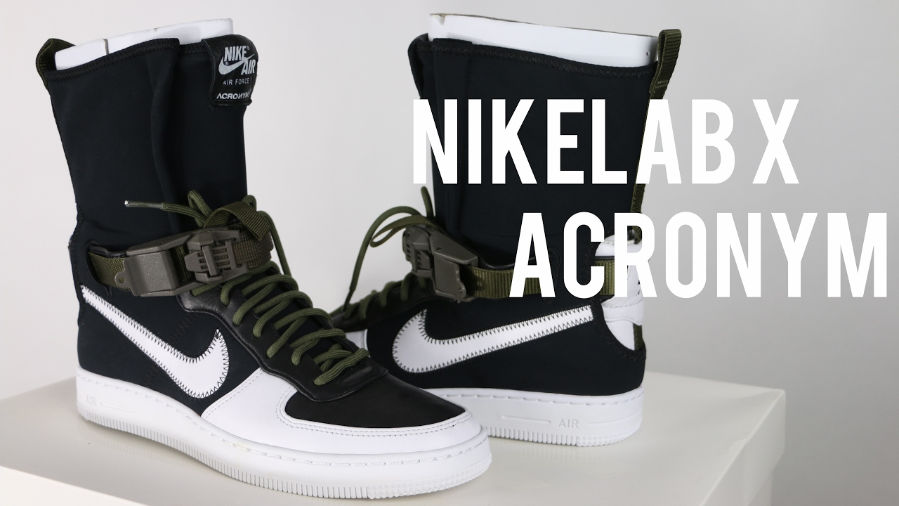 63c04ed461e309 NIKELAB X ACRONYM AIR FORCE 1 DOWNTOWN HI SP Review - YouTube