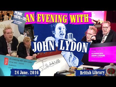 An Evening with John Lydon. 24 June.2016. British Library. London