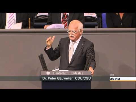 Dr. Peter Gauweiler CDU/CSU zum Fiskalvertrag und ESM-Vertrag 29.06.2012 - die Bananenrepublik