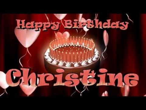 Happy Birthday Christine Youtube