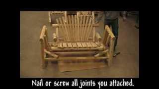 4' Cedar Log Glider Assembly