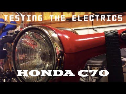 1981 Honda C70 Passport (04) - Testing the electrics - YouTube