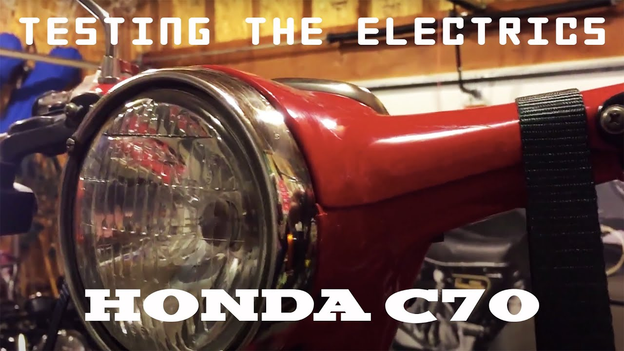 1981 Honda C70 Passport (04)  Testing the electrics  YouTube
