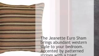 Jeanette Euro Sham - lonestarwesterndecor.com