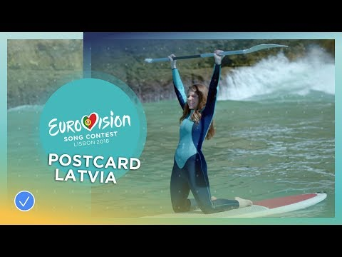 Postcard of Laura Rizzotto from Latvia - Eurovision 2018