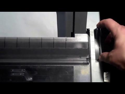Epson 590   Basic Printer Settings &  Ribbon Change