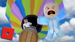JUMPING OUT OF A HOT AIR BALLOON | Roblox - Adopt Me