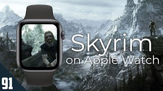 Playing Skyrim on Apple Watch, kind of