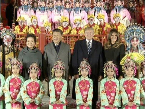 Chinese President Xi Jinping, US President Donald Trump Watch Peking Opera at Forbidden City