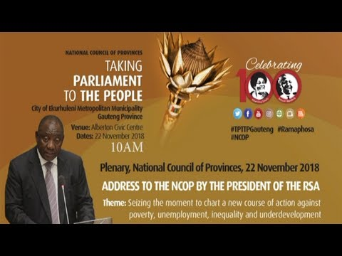 President Cyril Ramaphosa addresses NCOP sitting in Gauteng