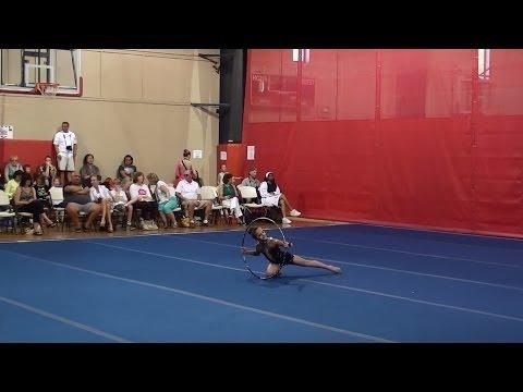 Rhythmic Gymnastics -  Jourdan Level 6 Hoop Routine   Region 6 Championship   2014