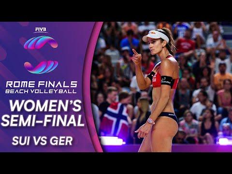 Women's Semi-Final: SUI Vs. GER   Beach Volleyball World Tour Finals Rome 2019