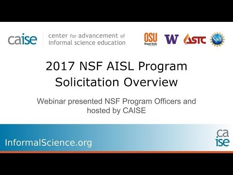 NSF-AISL | InformalScience org