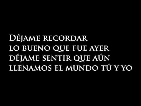 Juan Fernando Velasco - Si alguna vez te amé (Letra)