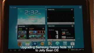How to upgrade Samsung Galaxy Note 10.1 to Android 4.1 Jelly Bean