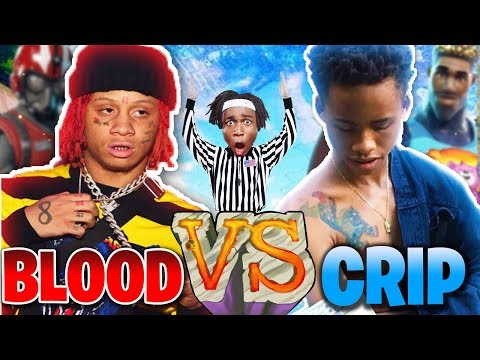 BLOOD vs CRIP in FORTNITE? MATCH of THE YEAR Fortnite: Battle Royale