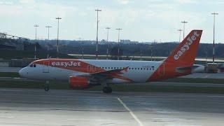 EasyJet Airline Airbus A319-111 G-EZDJ arrival at Hamburg Airport Ankunft Hamburg Flughafen