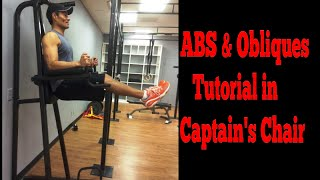 Abs & Obliques Captain's Chair Tutorial/core Training. Www.trainermarcelo.com