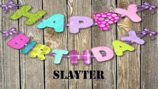 Slayter   wishes Mensajes