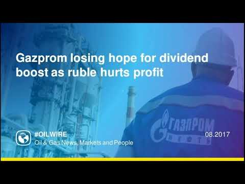 Gazprom losing hope for dividend boost as ruble hurts profit