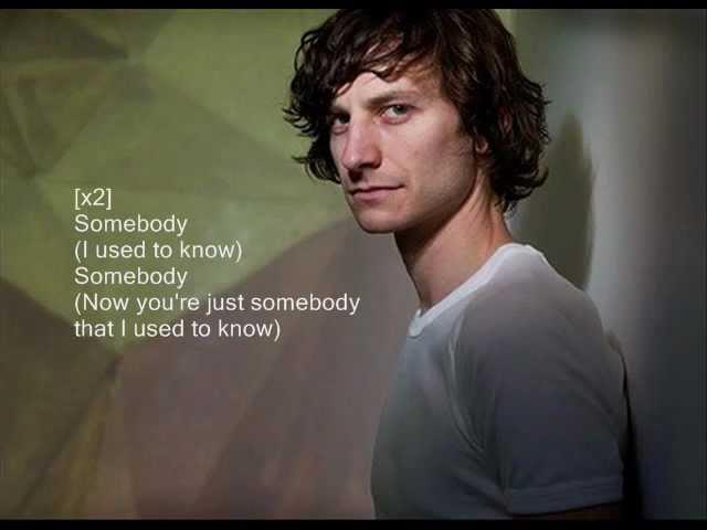 Gotye - somebody that I used to know with lyrics on screen