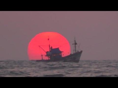 Закат солнца над Индийским океаном. Гоа. Индия.