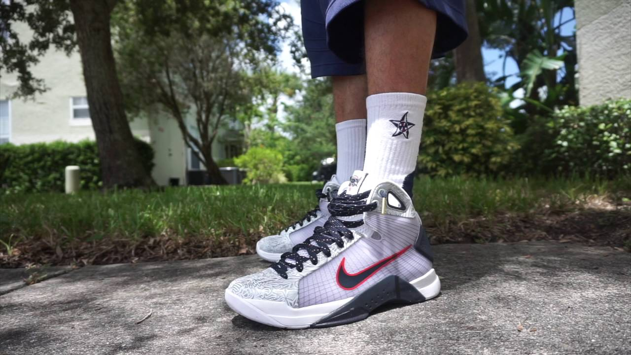 9ec58aadfe36 Nike Team USA HyperDunk 2008 On-Feet (United We Rise) - YouTube