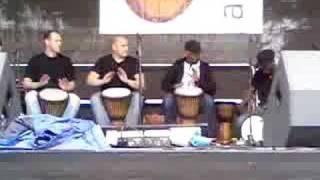 djembe master drummer  sosoya drummers at belfast mela