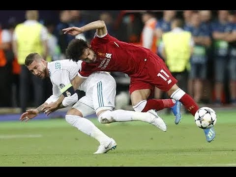 Sergio Ramos foul on MOHAMED SALAH