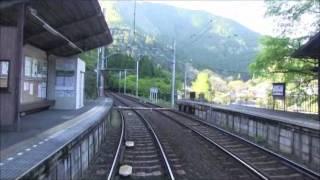 新緑 二軒茶屋駅から鞍馬駅まで