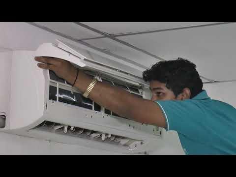 Servicing of split AC indoor unit Dry