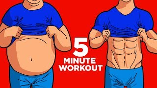 5 Exercises To Reduce Belly Fat - ONLY 5 MIN!