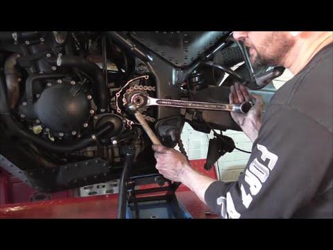 Triumph Tiger Diagram Delboy S Garage Motorcycle Front Sprocket Change Youtube