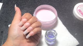 Acrylic Nails Tutorial | Watch me do my nails 😊