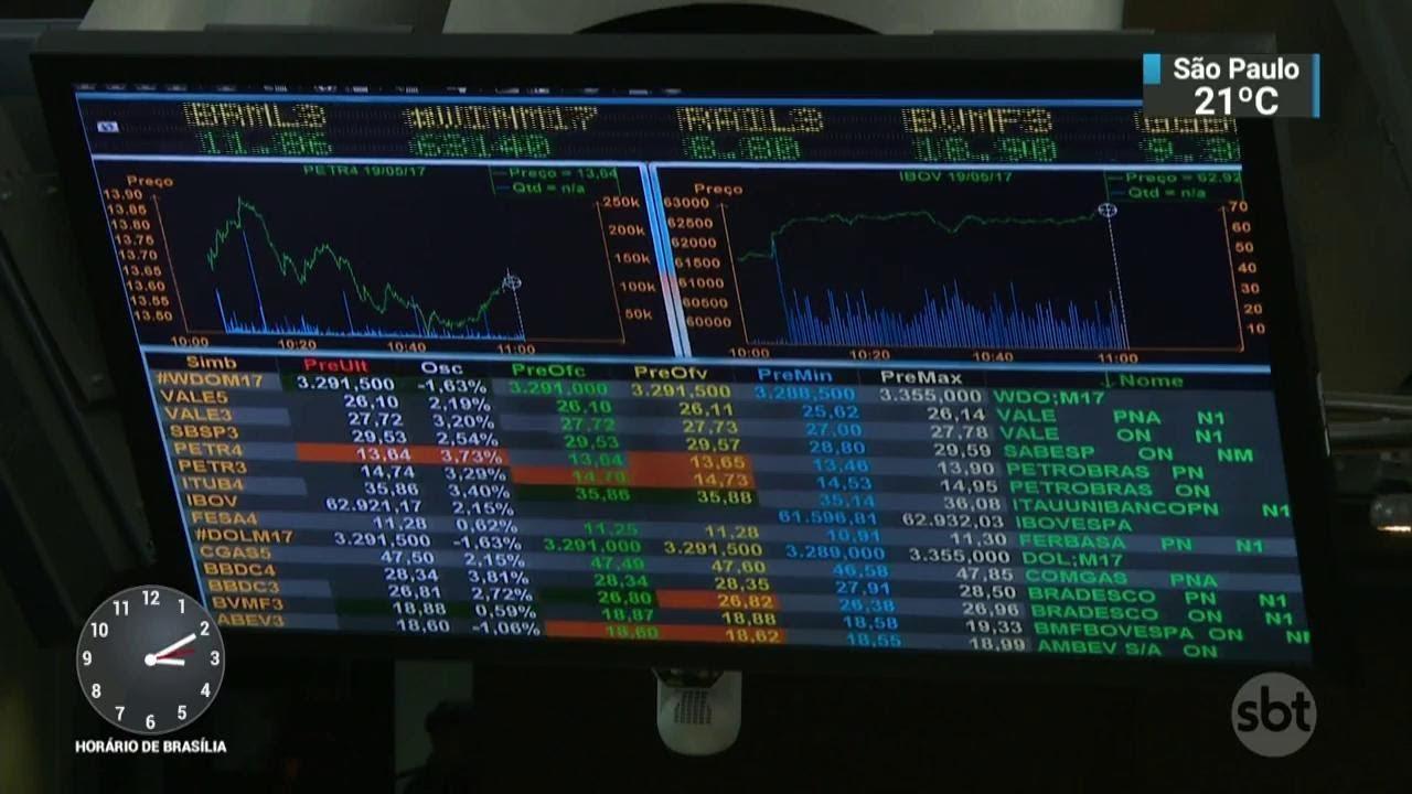 Bolsa de Valores dispara após resultado do 1º turno das eleições | SBT Notícias (09/10/18)