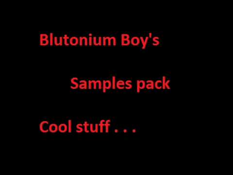 blutonium Boy's samples pack - cool stuff