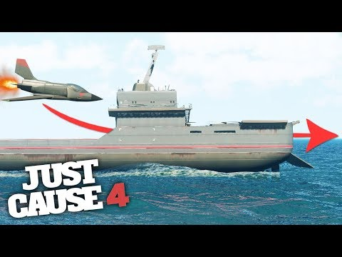 FLYING MICRO JET THROUGH THE BIGGEST SHIP! - Just Cause 4 Stunts!