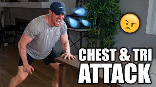 Chest & Tri ATTACK Home Bodyweight Workout | Day 8