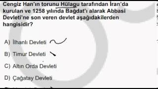Türk- İslam Devletleri Çıkmış Sorular - KPSS   Yeni videolar için abone olabilirsiniz