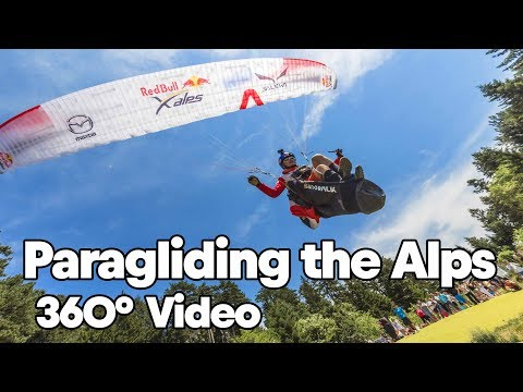 Paragliding Over the Alps with Paul Guschlbauer   360° Video