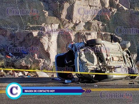 🚨🚨 Muere uno en volcadura en la Supercarretera Durango - Mazatlán