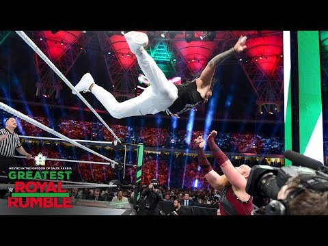 Jimmy Uso flies over the top rope twice against The Bludgeon Brothers: Greatest Royal Rumble